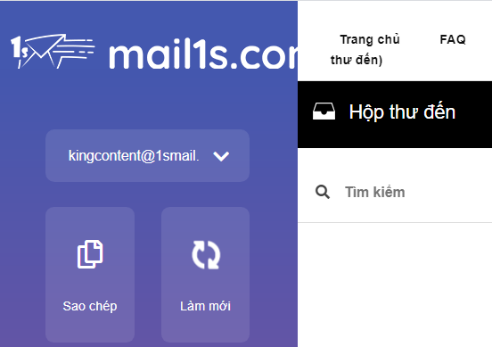Check email 1s